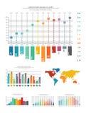 Elementi di progettazione di affari di Infographic Raccolta del modello di Infograph Insieme creativo del grafico Immagini Stock Libere da Diritti