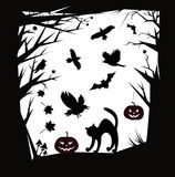Elementi di progettazione dei fumetti di Halloween di vettore Fotografia Stock