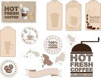 Elementi di progettazione del caffè Immagine Stock