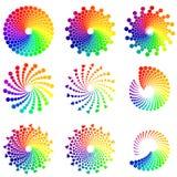 Elementi di progettazione del cerchio di colore illustrazione di stock