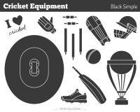 Elementi di progettazione del gioco del cricket di vettore Immagine Stock Libera da Diritti