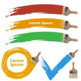 Elementi di progettazione del pennello Fotografie Stock