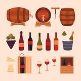 Elementi di progettazione del vino Fotografie Stock Libere da Diritti