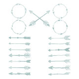Elementi di progettazione dell'acquerello della freccia Immagini Stock