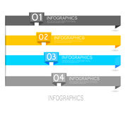 Elementi di progettazione dell'insegna di Infographic Immagini Stock Libere da Diritti