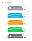 Elementi di progettazione dell'insegna di Infographic Immagine Stock Libera da Diritti