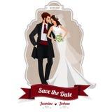 Elementi di progettazione dell'invito di nozze Fotografia Stock Libera da Diritti