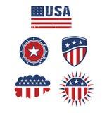 Elementi di progettazione della bandiera della stella di U.S.A. Immagini Stock