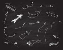 Elementi di progettazione della lavagna dello scarabocchio di vettore Immagine Stock