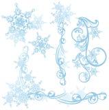 Elementi di progettazione della neve Immagine Stock