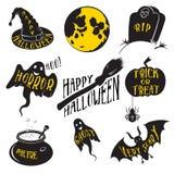 Elementi di progettazione delle collezioni di giorno di Halloween illustrazione di stock