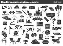 Elementi di progettazione di affari di scarabocchio Fotografia Stock Libera da Diritti