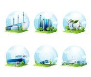 Elementi di progettazione di ecologia Fotografia Stock Libera da Diritti