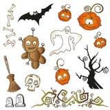 Elementi di progettazione di Halloween Fotografia Stock Libera da Diritti