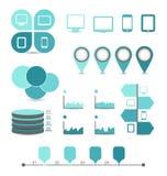 Elementi di progettazione di Infographic ideali visualizzare per il vostro informatio illustrazione vettoriale