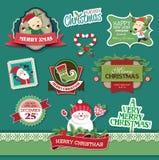 Elementi di progettazione di Natale Fotografie Stock Libere da Diritti
