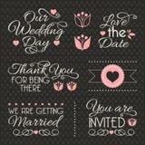 Elementi di progettazione di nozze Fotografia Stock Libera da Diritti