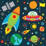 Elementi di progettazione di spazio cosmico illustrazione vettoriale