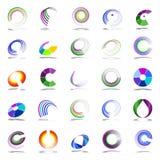 Elementi di progettazione di spirale e di rotazione Fotografie Stock Libere da Diritti