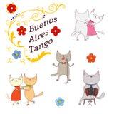 Elementi di progettazione di tango dell'Argentina royalty illustrazione gratis