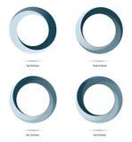 Elementi di progettazione di vettore del ciclo infinito Immagine Stock