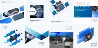 Elementi di progettazione di vettore di affari per la disposizione grafica Sommario moderno illustrazione vettoriale