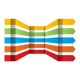 Elementi di progettazione di vettore messi frecce variopinte Fotografia Stock
