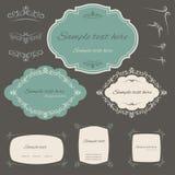 Elementi di progettazione e decorazione calligrafici della pagina Fotografia Stock