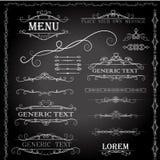 Elementi di progettazione e decorazione calligrafici della pagina - insieme di vettore Fotografia Stock Libera da Diritti