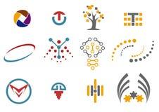 12 elementi di progettazione e di logo Fotografie Stock Libere da Diritti
