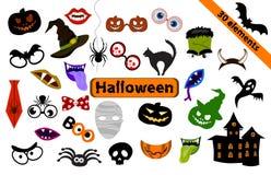 Elementi di progettazione di Halloween per i puntelli del partito illustrazione vettoriale