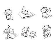 Elementi di progettazione di insieme del bambino della volpe del carattere di vettore illustrazione vettoriale