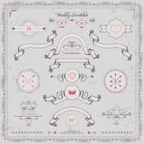 Elementi di progettazione, invito di nozze, Fotografia Stock