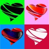 Elementi di progettazione per il giorno del ` s del biglietto di S. Valentino Fotografie Stock Libere da Diritti