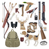 Elementi di progettazione stabilita dell'icona di caccia Fotografie Stock