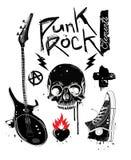 Elementi di punk rock Immagine Stock Libera da Diritti