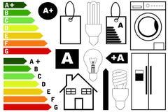 Elementi di rendimento energetico illustrazione vettoriale