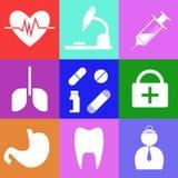 Elementi di sanità e medici di progettazione illustrazione vettoriale