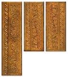 Elementi di scultura di legno di disegno del reticolo Immagini Stock Libere da Diritti