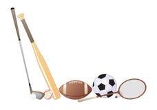 Elementi di sport Fotografia Stock Libera da Diritti
