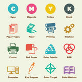 Elementi di stampa illustrazione vettoriale