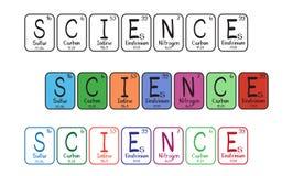 Elementi di tabella periodica - tasti di scienza Fotografie Stock