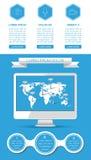 Elementi di Ui, di infographics e di web Immagini Stock