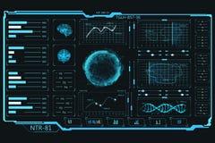 Elementi di UI Pannello di tocco Grafici e dati di informazioni illustrazione vettoriale