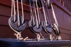 Elementi di un'attrezzatura della nave immagini stock libere da diritti