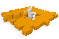 Elementi di un puzzle di puzzle Immagini Stock