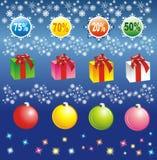 Elementi di vendita di Natale Fotografia Stock