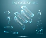 Elementi di vetro Immagine Stock