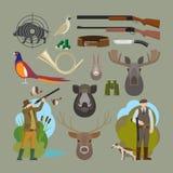 Elementi di vettore di caccia royalty illustrazione gratis