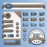 Elementi di vettore di disegno di Web Fotografia Stock